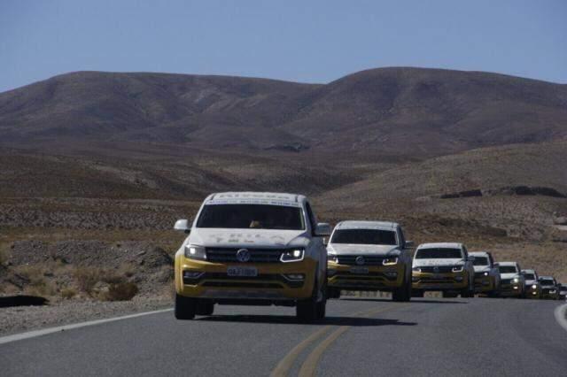 Carreata de empresários durante a expedição realizada no fim de agosto e início de setembro deste ano (Foto: Governo de MS/Silvio Andrade)