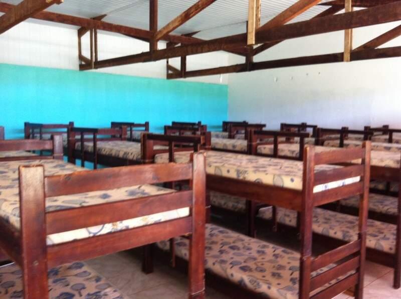 Ao invés de barraca, o acampamento será um alojamento (Foto: Divulgação)