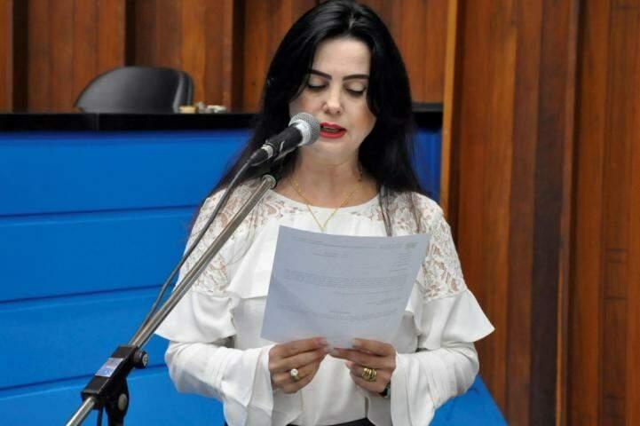 Deputada Mara Caseiro (PSDB) acredita na aprovação do projeto de lei pelo plenário (Foto: Luciana Nassar)