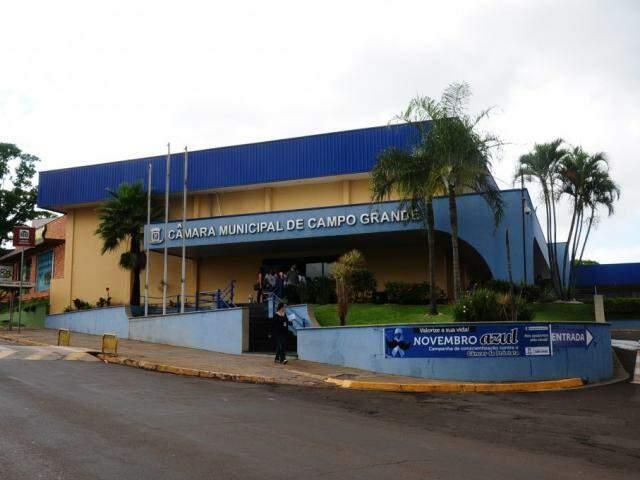Câmara Municipal de Campo Grande. (Foto: Paulo Francis).