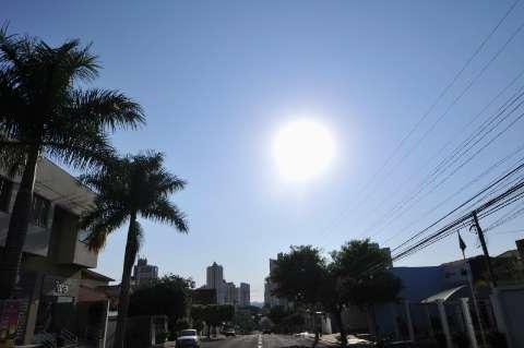 Baixa umidade do ar e calor acima dos 40°C permanecem durante a semana
