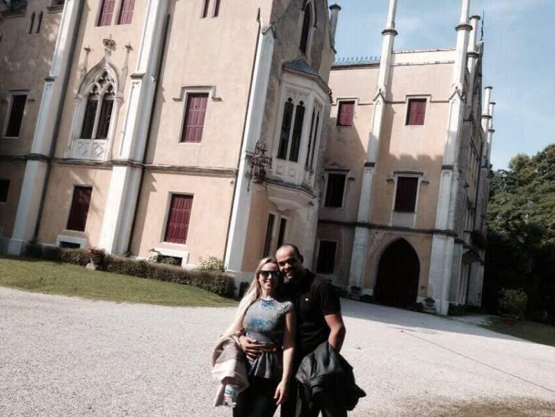 Aline e Leandro dizem sim em castelo no próximo dia 9 de julho. (Foto: Arquivo Pessoal)