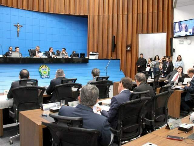 Deputados aprovaram projetos na sessão desta quarta-feira (Foto: Assessoria/ALMS)