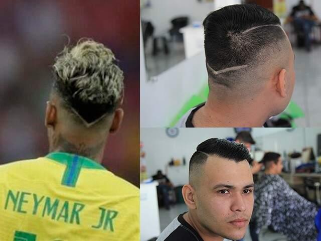 Lucas pediu corte ao estilo Neymar com listra na nuca. (Foto:Marina Pacheco)