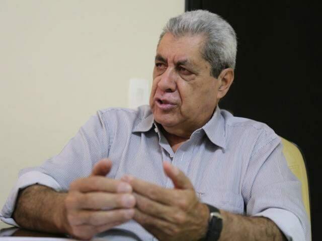 Ex-governador André Puccinelli começa comitiva para divulgar sua pré-candidatura (Foto: Marcos Ermínio)