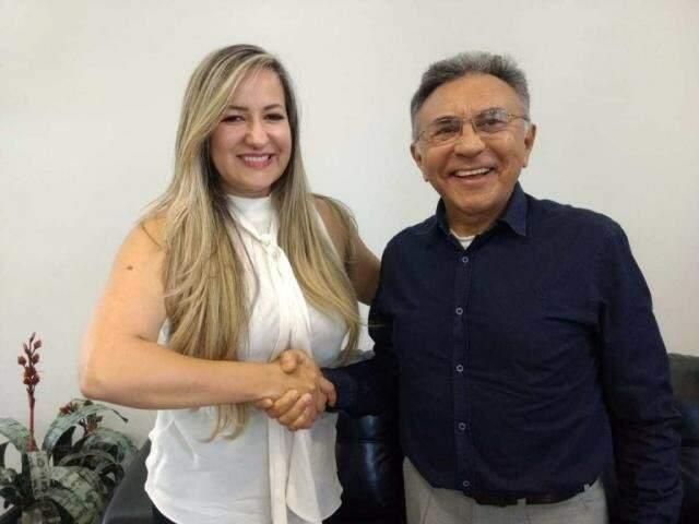 Encontro de Keliana e Odilon marcou seu anunciou  como vice, nesta quarta-feira (01). (Foto:Divulgação)