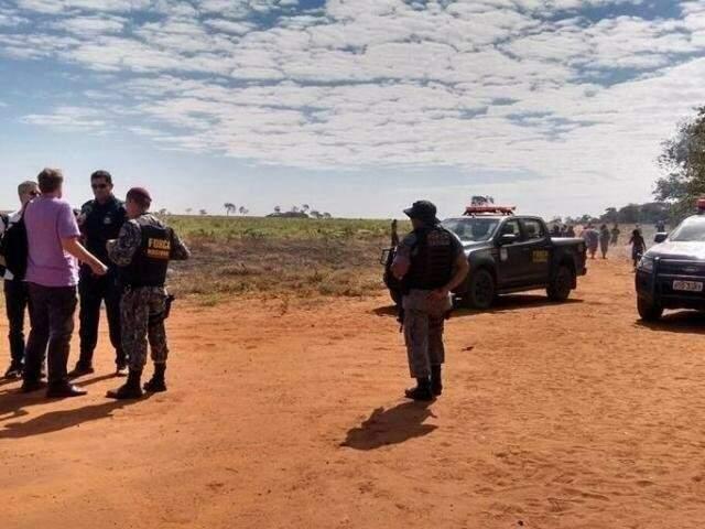 Após invasão, índios foram alvos de ataque na Yvu, mobilizando forças policiais para a região. (Foto: PMMS/Arquivo)