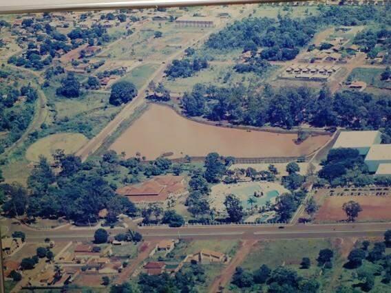 Foto mostra extensão do Lago do Rádio Clube no passado.
