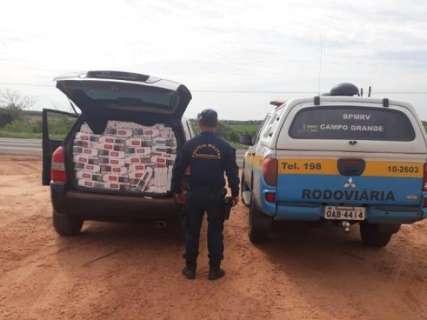 Polícia apreende 3 mil maços de cigarros e 250 quilos de maconha na MS-141