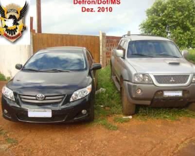 Defron e PRF recuperam veículos roubados em Curitiba e Salvador
