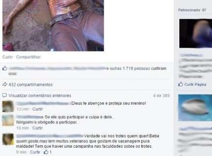 Trote que levou dois jovens ao coma alcoólico repercute no Facebook