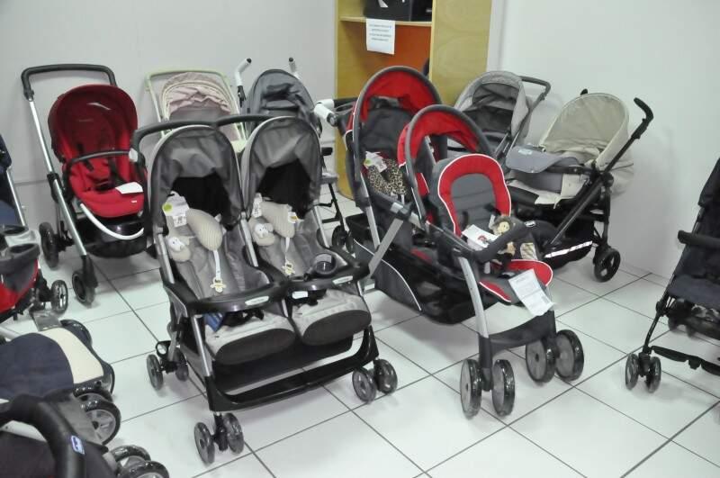 Na Toka Brasil, preço médio dos carrinhos para gêmeos é de R$ 2 mil. (Foto: Marcelo Calazans)