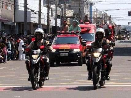 Governador e prefeito vão a desfile de 7 de Setembro, que fecha ruas do Centro