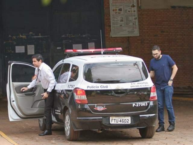 Policiais de São Paulo no presídio de Segurança Máxima (Foto: Saul Schramm)
