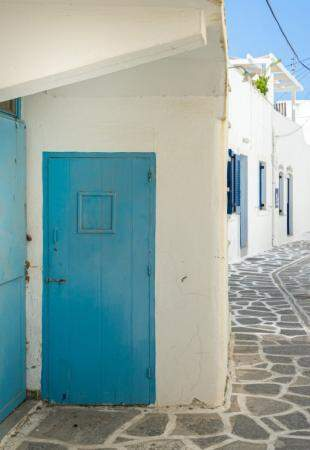 Grécia: O charme do azul e branco... (Foto: Janaina Lott)