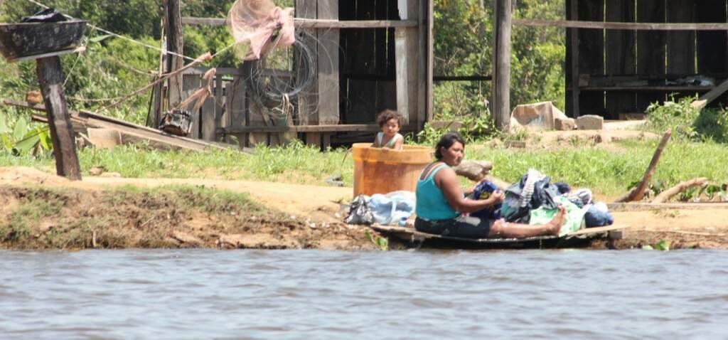 Os ribeirinhos são os novos moradores da beira do rio, concentrando-se na região da Serra do Amolar. Foto Sílvio Andrade