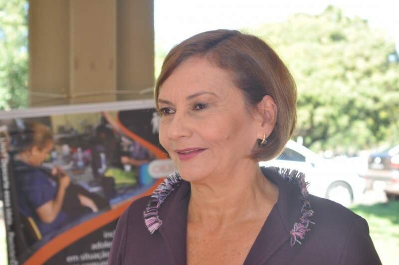 Mirian, a coordenadora da ITCP-UFMS, conta que tem ficado satisfeita com os resultados do programa. (Foto: Marcelo Calazans)