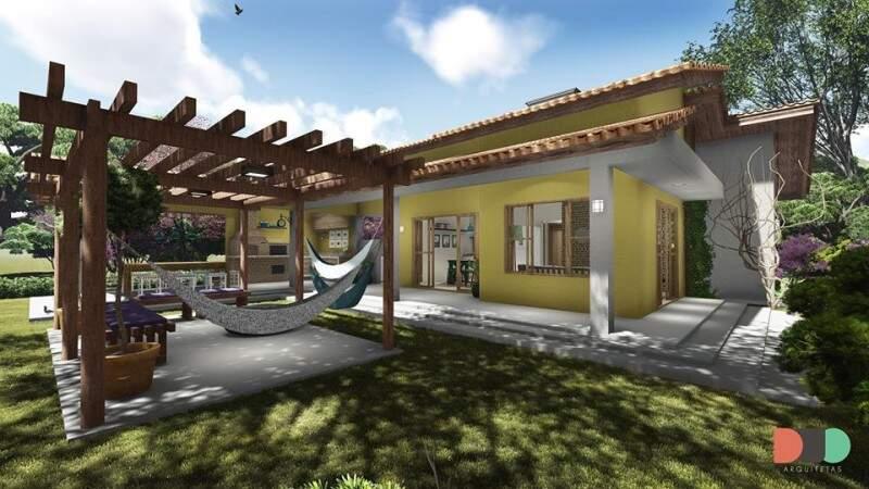 Casa mescla uma decoração rústica com elementos modernos (Foto: Reprodução/Camila Laurentino)