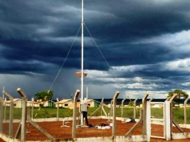 Uma das estações meteorológicas instaladas pelo governo em MS (Foto: divulgação/Semagro)