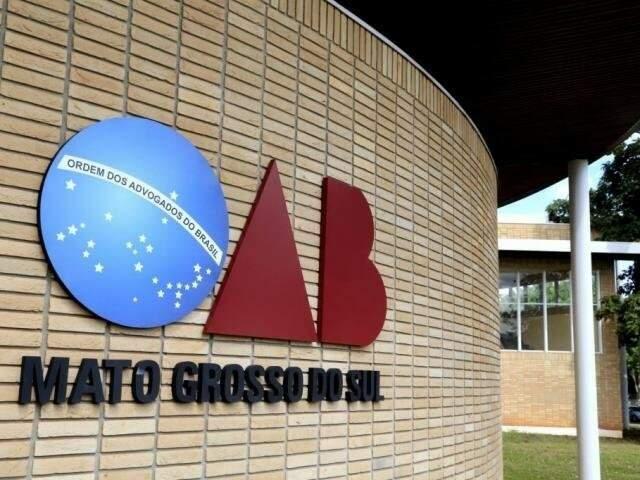 Prédio da OAB-MS fica na avenida Mato Grosso (Foto: Assessoria de Comunicação/ OAB)