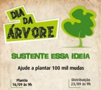 Semana da Árvore será de 16 a 23 de setembro. Meta é plantar 100 mil mudas.