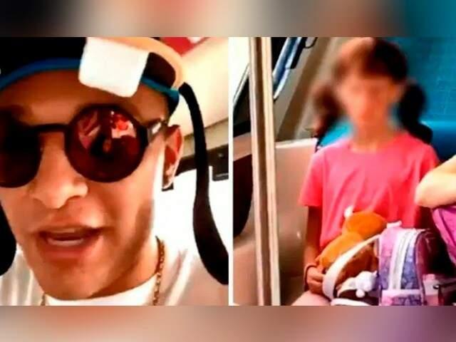 MC Gui fez vídeo zuando menina em viagem na Disney (Foto: Reprodução vídeo)