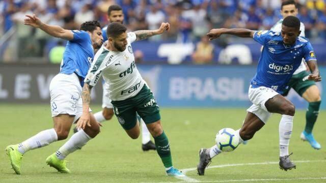 Palmeiras terminou o ano com vitória e selou o embarque do Cruzeiro para a série B. (Foto: Cesar Greco/Ag Palmeiras/Divulgação)