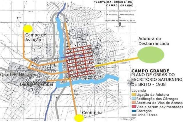 O 1º Plano Urbanístico de Campo Grande veio há 80 anos, com Eduardo Olímpio