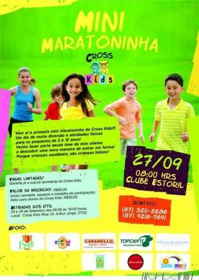 Mini Maratoninha será realizada no dia 27 de setembro, no Clube Estoril (Foto: Divulgação)