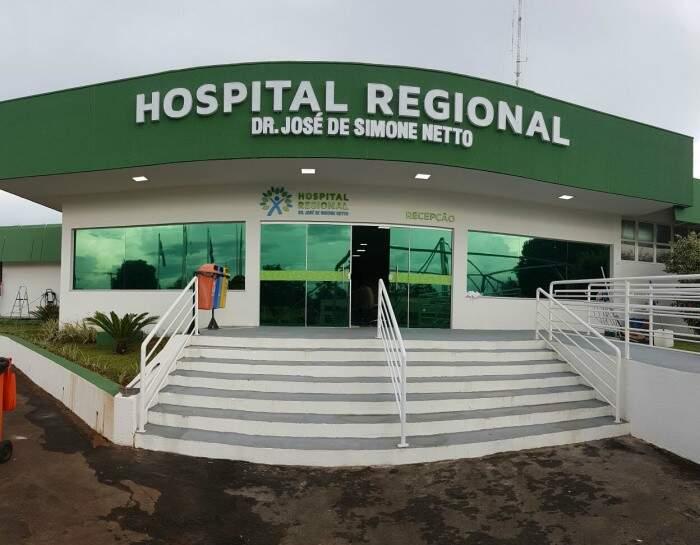 Fachada do Hospital Regional de Ponta Porã, uma nova realidade, segundo o Instituto Gerir (Foto: Aquivo)