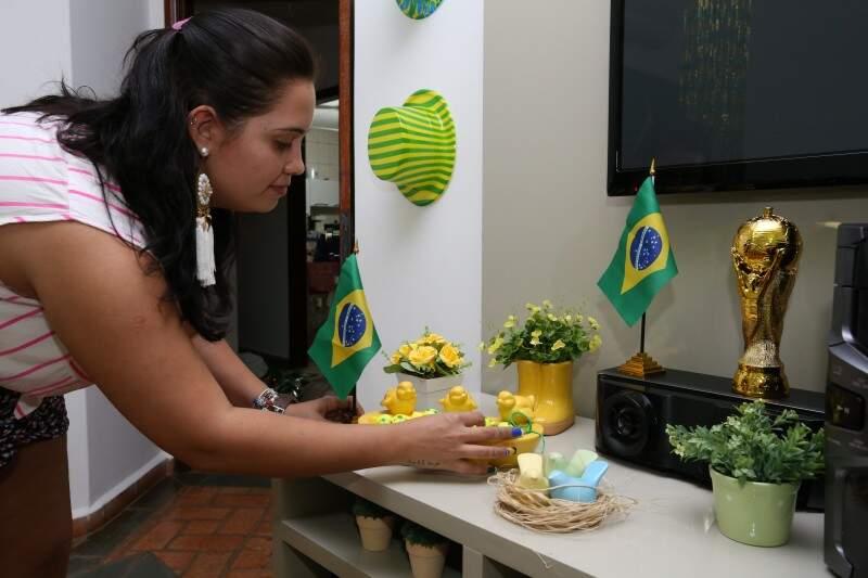 Rafaela Carretoni prepara o verde e amarelo nos itens e também nos petiscos.