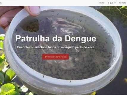 Site possibilita que usuários marquem focos de mosquito da dengue na capital