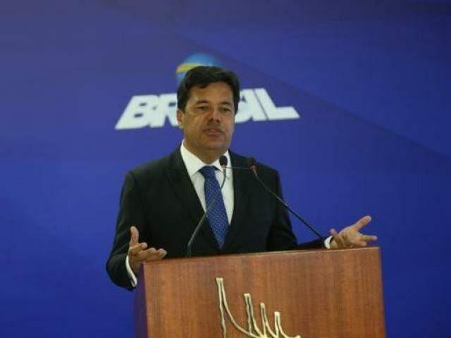 Ministro durante discurso em Brasília nesta quarta-feira (17) (Foto: Antonio Cruz/Agência Brasil)