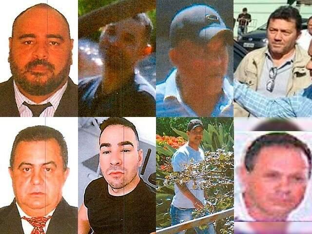 Na primeira linha imagens de Elvis, Eronaldo, Euzébio e Everaldo, quatro dos 8 acusados que ficarão presos por tempo indeterminado. (Foto: Reprodução)