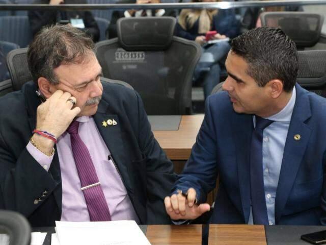 Deputados Paulo Siufi (MDB) e Herculano Borges (SD) falaram sobre o tema na sessão (Foto: Victor Chileno/ALMS)