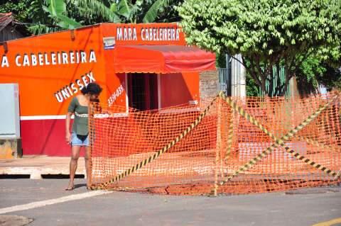 Depois de alagamento, erosão agora é o problema no Bairro Nova Campo Grande