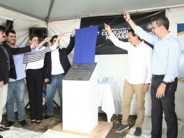Pedra fundamental da Navarro foi lançada ainda em 2017; cervejaria prevê investir R$ 14,7 milhões na Capital. (Foto: Arquivo)