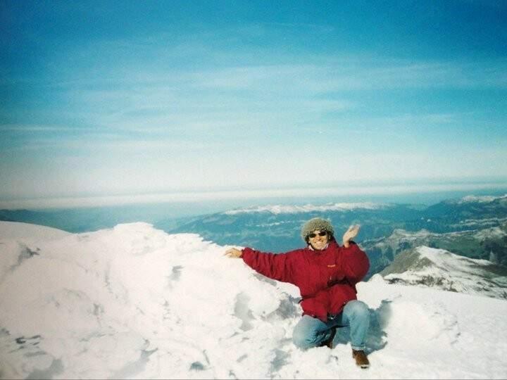 A felicidade de conhecer a neve. (Foto: Arquivo Pessoal)
