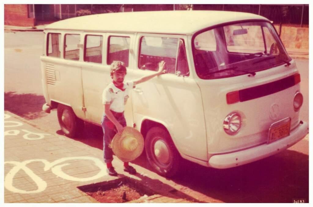 A fotografia que fez Jean nunca desistir de ter uma Kombi. (Foto: Arquivo Pessoal)