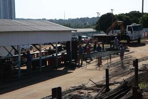 Apesar da greve na construção, obras seguem em ritmo normal na Capital