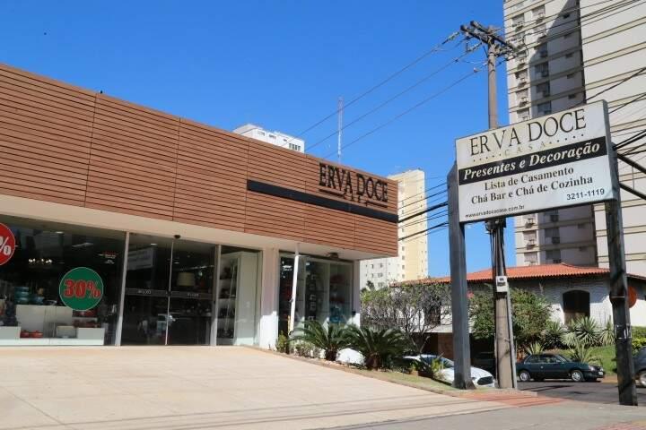 Loja Erva Doce fica na Avenida Afonso Pena, 3644, esquina com a Bahia. (Foto: Alcides Neto)