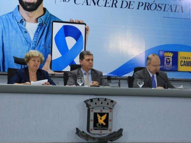 Presidente da Câmara, durante a sessão desta terça-feira (14) (Foto: Reprodução/ Izaias Medeiros)