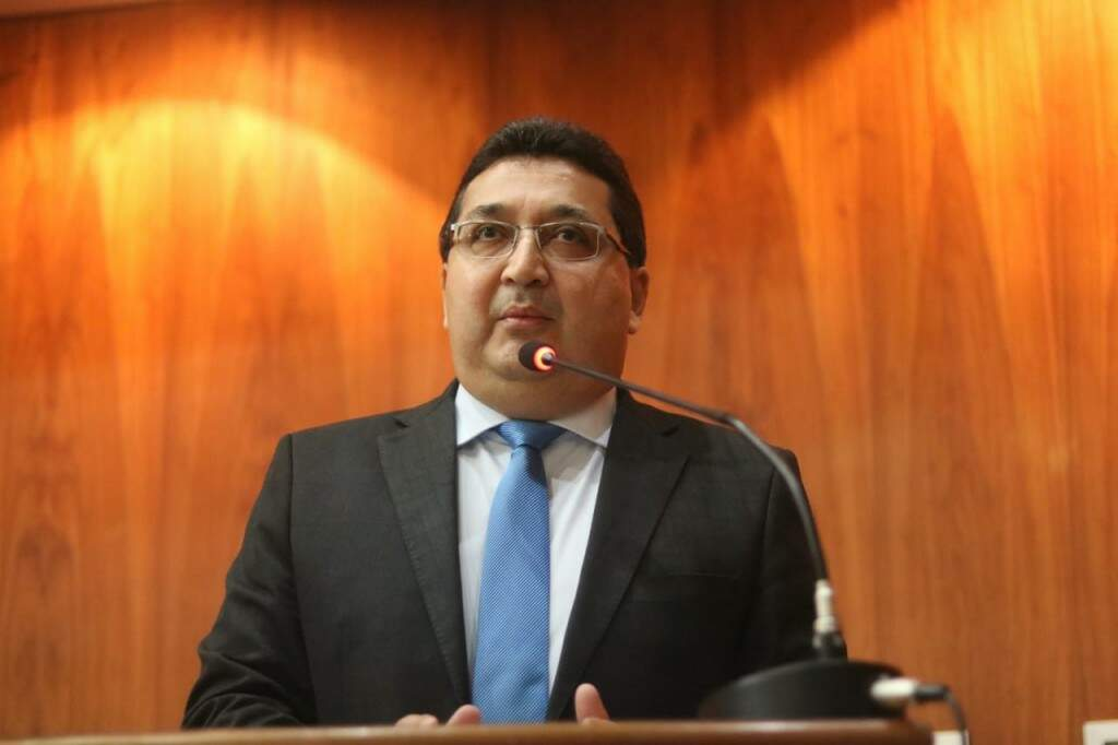 Valério Azambuja, secretário de segurança da Capital, abriu evento nesta terça-feira (Foto: Marcos Maluf)
