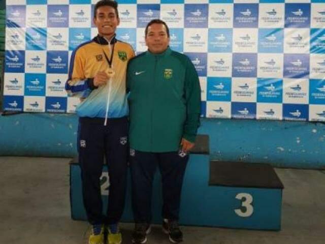 Erick Taira conquistou medalha de bronze no Equador (Foto: UFMS)