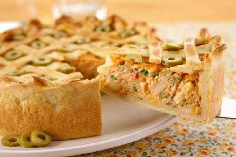 As tortas salgadas atendem em média 6 pessoas.(Foto: Reprodução Facebook)