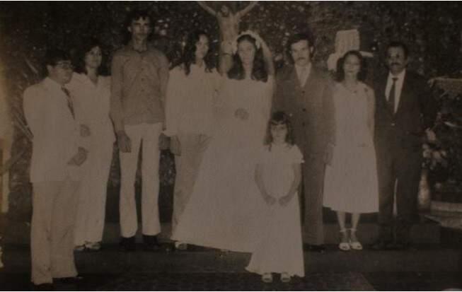 Zezinho e HIlda, que também se casaram em junho de 79.