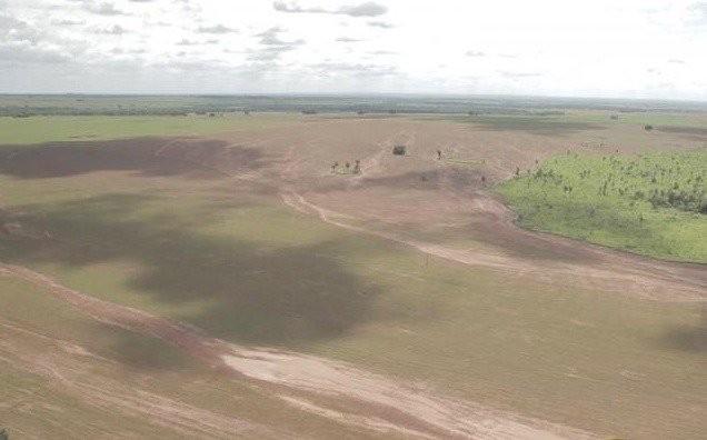 Propriedade rural na região do rio da Prata, onde enxurradas levaram lama para o rio; dois produtores foram notificados em Bonito. (Foto: Semagro/Divulgação)