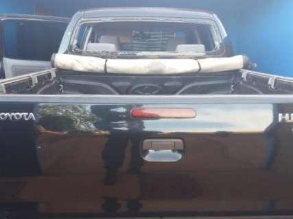 Caminhonete roubada de vereador é recuperada no Paraguai