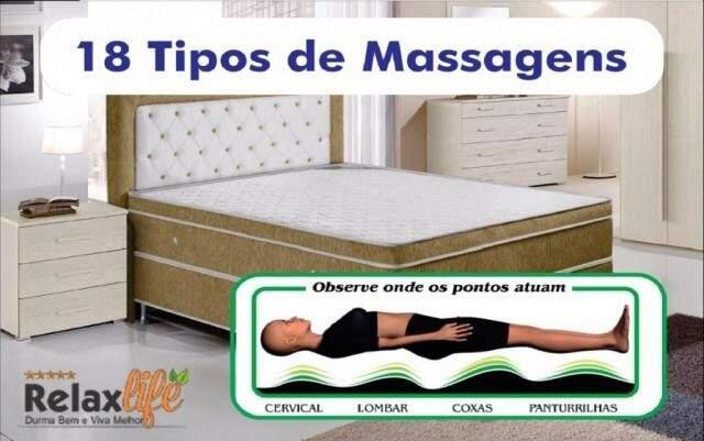 Massagem é o plus dos colchões Relax Life.