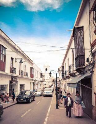 Detalhes em uma das ruas de Sucre. (Foto: Juliano Pinheiro)